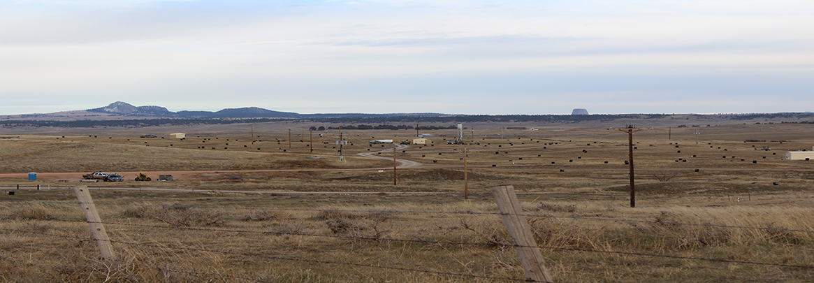 A uranium field in Wyoming